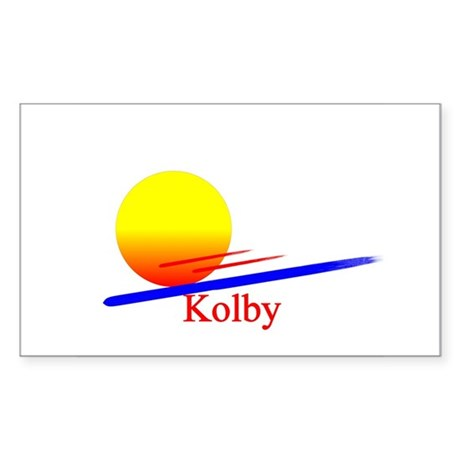 Kolby Rectangle Sticker