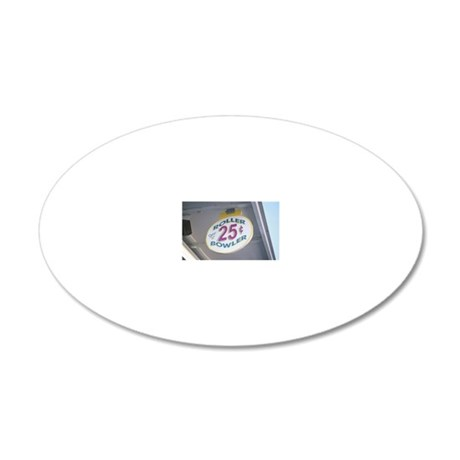 Roller bowler sign at carniv 20x12 Oval Wall Decal