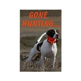 Gone Hunting Rectangle Magnet