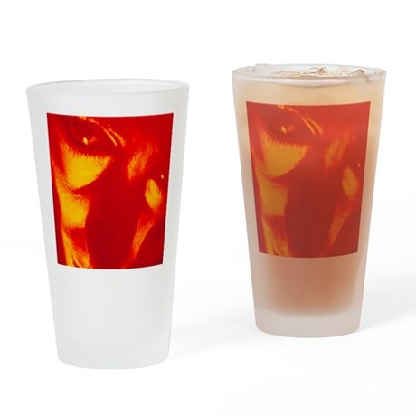 Face and eyes of a man suffering pa Drinking Glass