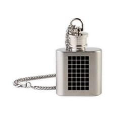 Scintillating grid illusion Flask Necklace
