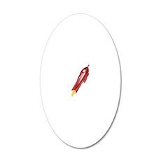 sm rocket, no smoke 20x12 Oval Wall Decal