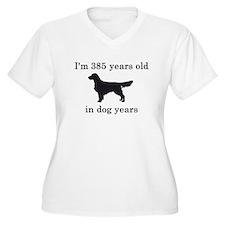 55 birthday dog years golden retriever Plus Size T