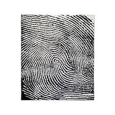 Enlarged fingerprint Throw Blanket
