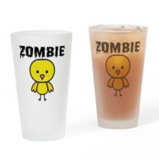 Zombie Chick Drinking Glass