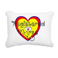 RN heart Red yellow blue Rectangular Canvas Pillow