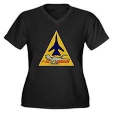 F-111D Aardv Women's Plus Size Dark V-Neck T-Shirt