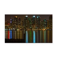Full moon over San Diego Rectangle Car Magnet