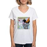 Bantam Chickens Women's V-Neck T-Shirt