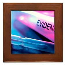 Forensic evidence Framed Tile