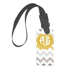 Preppy Pug (multi chevron) Luggage Tag