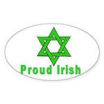 Proud Irish Jew Oval Sticker