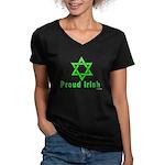 Proud Irish Jew Women's V-Neck Dark T-Shirt