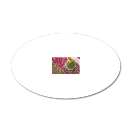 Silicon chip micro-wire, SEM 20x12 Oval Wall Decal