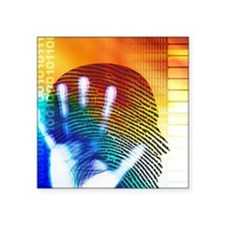 "Forensic science Square Sticker 3"" x 3"""