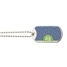Preppy Pug 3 (blue) Dog Tags