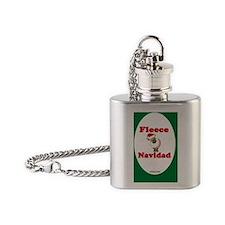 FleeceOvalOrnCeramic-a Flask Necklace