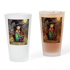 Halloween Hill Drinking Glass