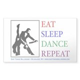 Eat Sleep Dance Repeat Rectangle Decal