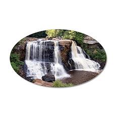 Blackwater Falls 35x21 Oval Wall Decal