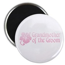 "Hibiscus Grandmother of Groom 2.25"" Magnet (100 pa"