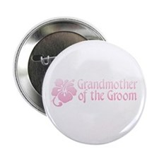 "Hibiscus Grandmother of Groom 2.25"" Button (10 pac"