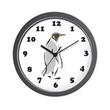 Penguin Wall Clock: Gray Penguin