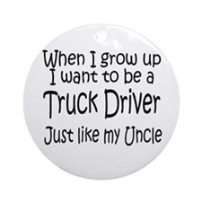 WIGU Trucker Uncle Ornament (Round)