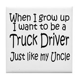 WIGU Trucker Uncle Tile Coaster