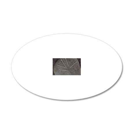 Acupuncture needles 20x12 Oval Wall Decal