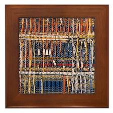 Heathkit computer wires Framed Tile