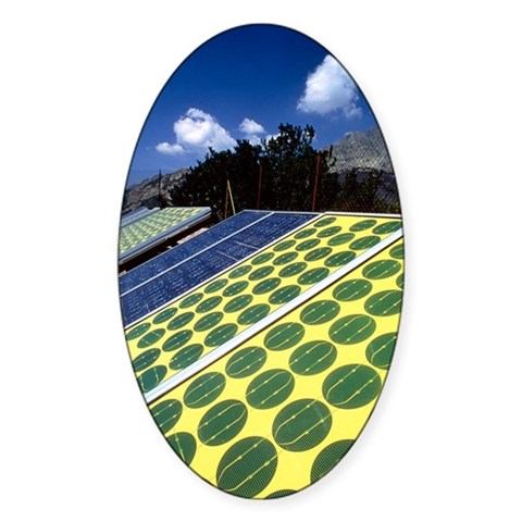 Solar panels used to charge ra Decal