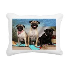 Day At The Beach Rectangular Canvas Pillow