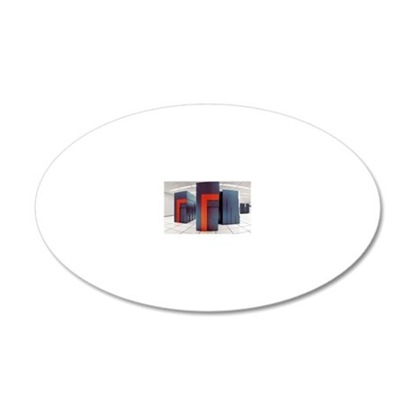 NERSC supercomputers 20x12 Oval Wall Decal