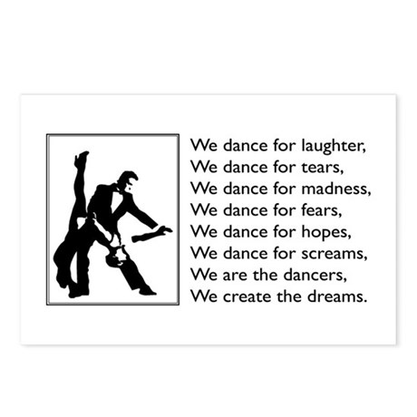 We Dance Logo Postcards (Package of 8)