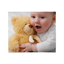 Baby boy playing Throw Blanket