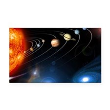Solar system planets Rectangle Car Magnet