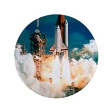 "Space Shuttle launch 3.5"" Button"