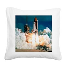 Space Shuttle launch Square Canvas Pillow