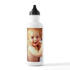 Baby boy before a bath Water Bottle