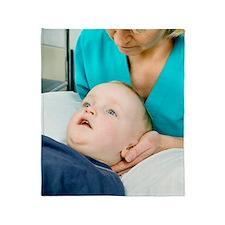 Cervical spine examination Throw Blanket