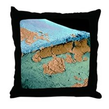 Coloured SEM of the join between a to Throw Pillow