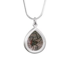 Tailless whip scorpion Silver Teardrop Necklace