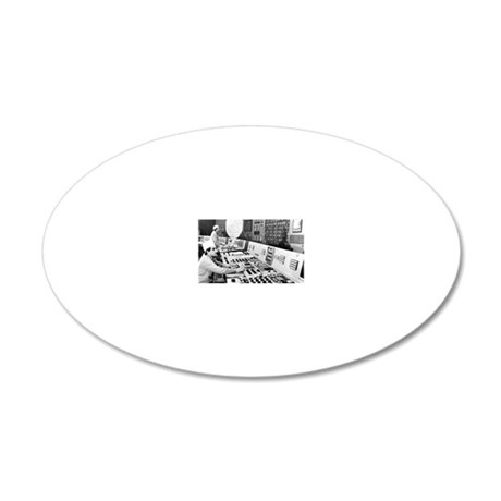 Technicians in the control r 20x12 Oval Wall Decal