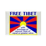 FREE TIBET* Rectangle Magnet (10 pack)
