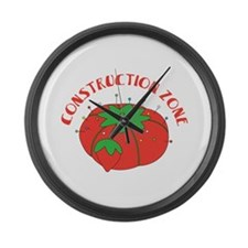 Construction Zone Large Wall Clock