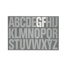 Supercool GF Alphabet Rectangle Magnet