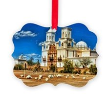 San Xavier MIssion - White Dove o Ornament