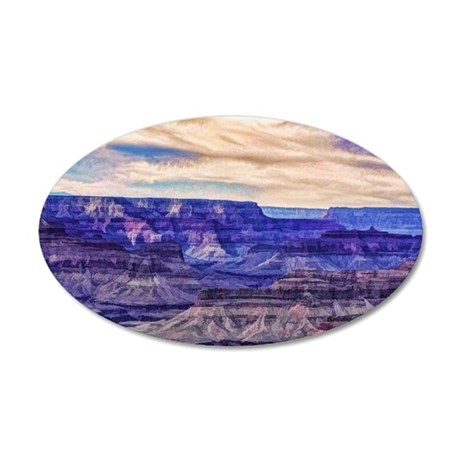 grand canyon 35x21 Oval Wall Decal