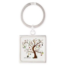 Tree of Life Square Keychain